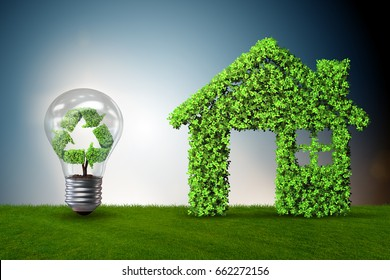 Light bulb in green environment concept - 3d rendering
