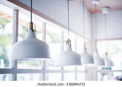 light bulb and hanging lamp in modern style, Electric light bulb