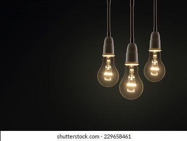 light bulb isolated on a black bakground