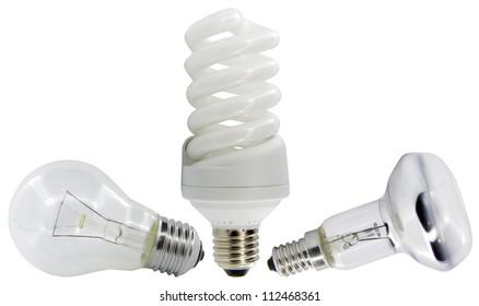 light bulb isolated on white.