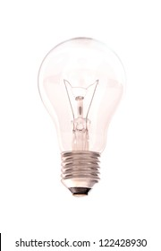 Light bulb isolated on white
