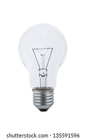 Light bulb isolated on white background with the clipping path