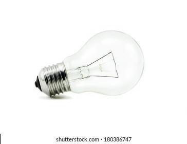 Light bulb, isolated on white background