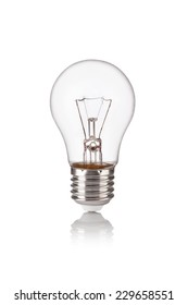 light bulb isolated on a white bakground