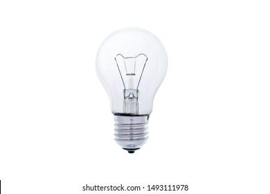 Light bulb, isolated, Realistic photo image, Light bulb on white background.
