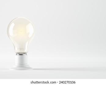 A Light bulb, isolated, Realistic photo image
