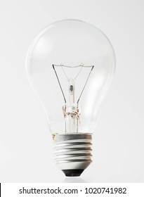 Light bulb object on white background for idea or electric design material