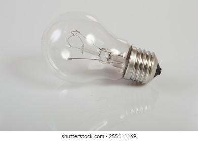 light bulb on a gray background