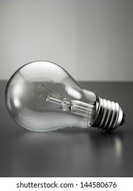 light bulb on the gray backgrounnd