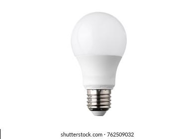 Light bulb on white bacground