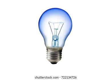 light bulb on white background.