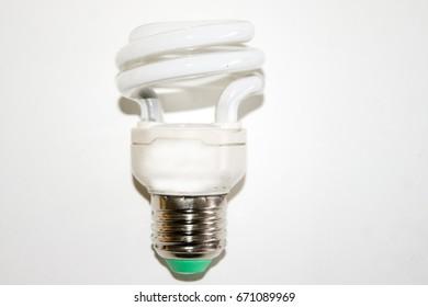 Light bulb on white floor