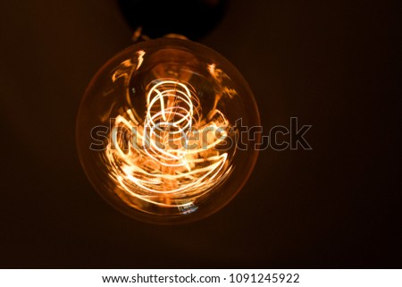 Light bulb orange yellow
