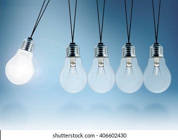 light bulb pendulum
