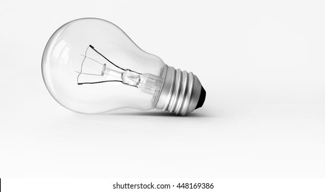 Light bulb put on isolated background.