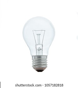 Light bulb - tungsten bulb or incandescent light bulb isolated on white background