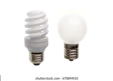 Light bulb in a white background