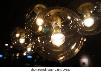 Light bulbs background