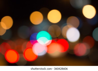 Light bulbs a lot of color in blur background