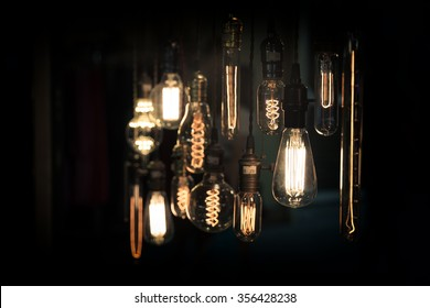 light bulbs in the dark