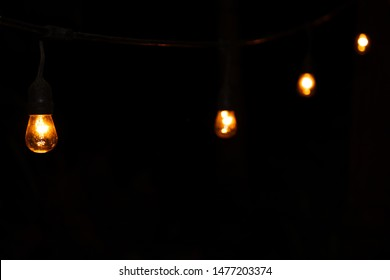 Light bulbs in the darkness