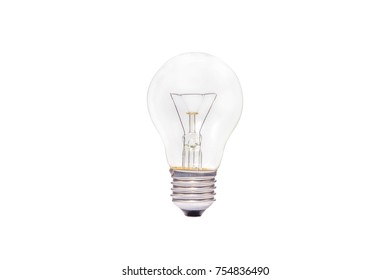 Light bulbs, incandescent isolate white background