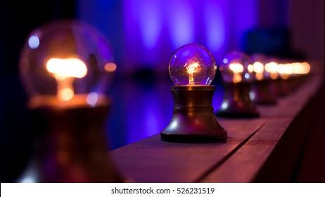 Light Bulbs On Stage