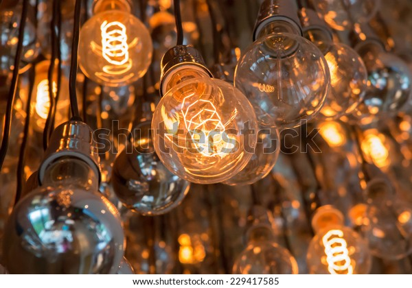 Light Bulbs, some on and some off