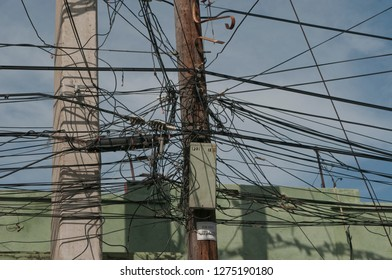 light cables, abstract