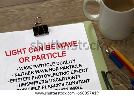 Light Can Be Wave Particle Particle Stock Photo (Edit Now) 668057419