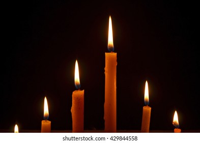 Light of the candles in the dark