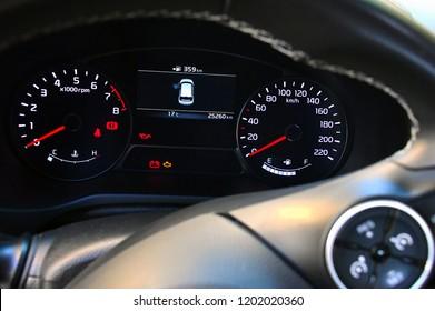 light car mileage meter