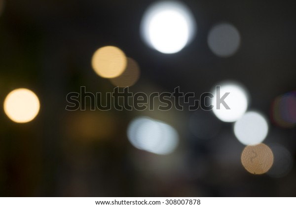 The light causes colorful beautiful bokeh