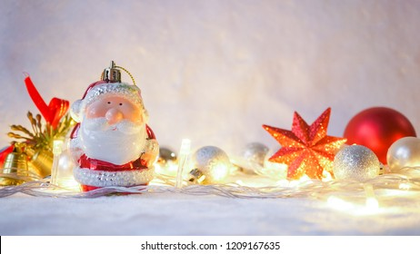 light and Christmas decoration for new year and Christmas concept background