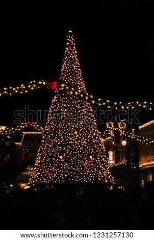 Light Christmas Tree Tokyo Disneyland Winter Stock Photo Edit Now