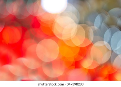 light circular defocused reflections of Christmas lights blurred background and bokeh