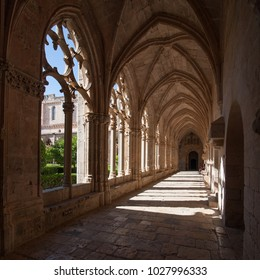 Light in the cloister of the monastery