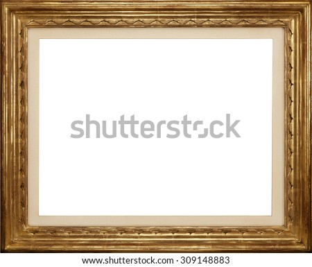 Light Colored Wooden Picture Frame Isolated Stock Photo Edit Now