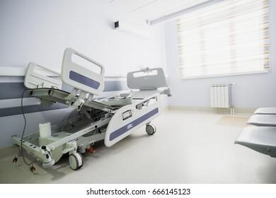 Light corridor of a modern hospital