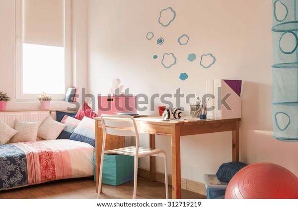 Light Cozy Room Modern Teenage Girl Stock Photo Edit Now 312719219