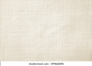 Light cream linen fabric texture wallpaper background.