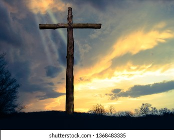 Light at the Cross of Jesus of Nazareth Taken After a Tornado