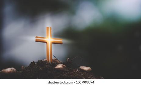 light of cross.Christian, Christianity, Religion background.