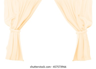 Light curtains isolated on white background. Include clipping path. 3d render