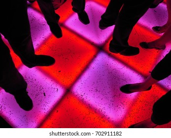 Light up Dance Floor Red and Purple with Silhouettes