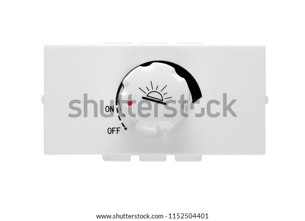 Light dimmer switch isolated on white background.
