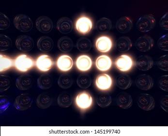 Light display arrow