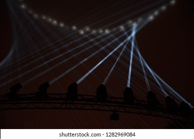 Light display in Lloyds park Walthamstow for the London borough of culture event