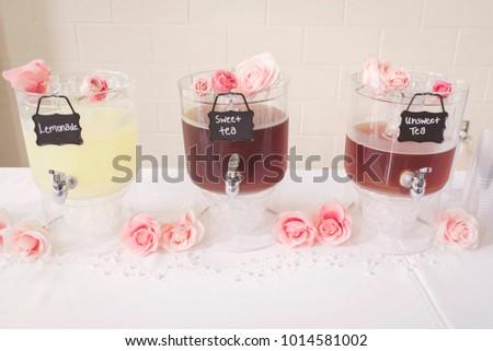 Light Drinks Intimate Summer Wedding Reception Stock Photo Edit Now