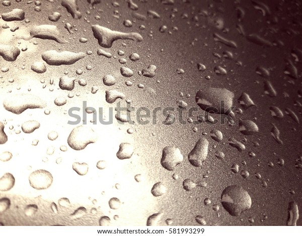 Light drops of water